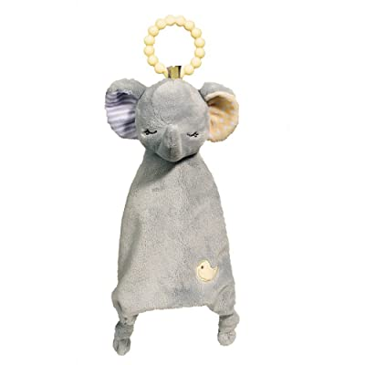 Douglas Baby Gray Elephant Teether Soft Plush Toy: Toys & Games