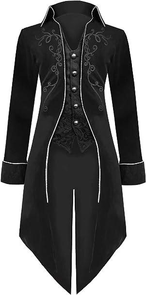 Amazon.com: Traje medieval Steampunk para hombre, disfraz de ...