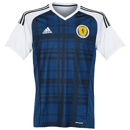 26bce538d8a Amazon.com   adidas 2016-2017 Scotland Home Football Soccer T-Shirt ...