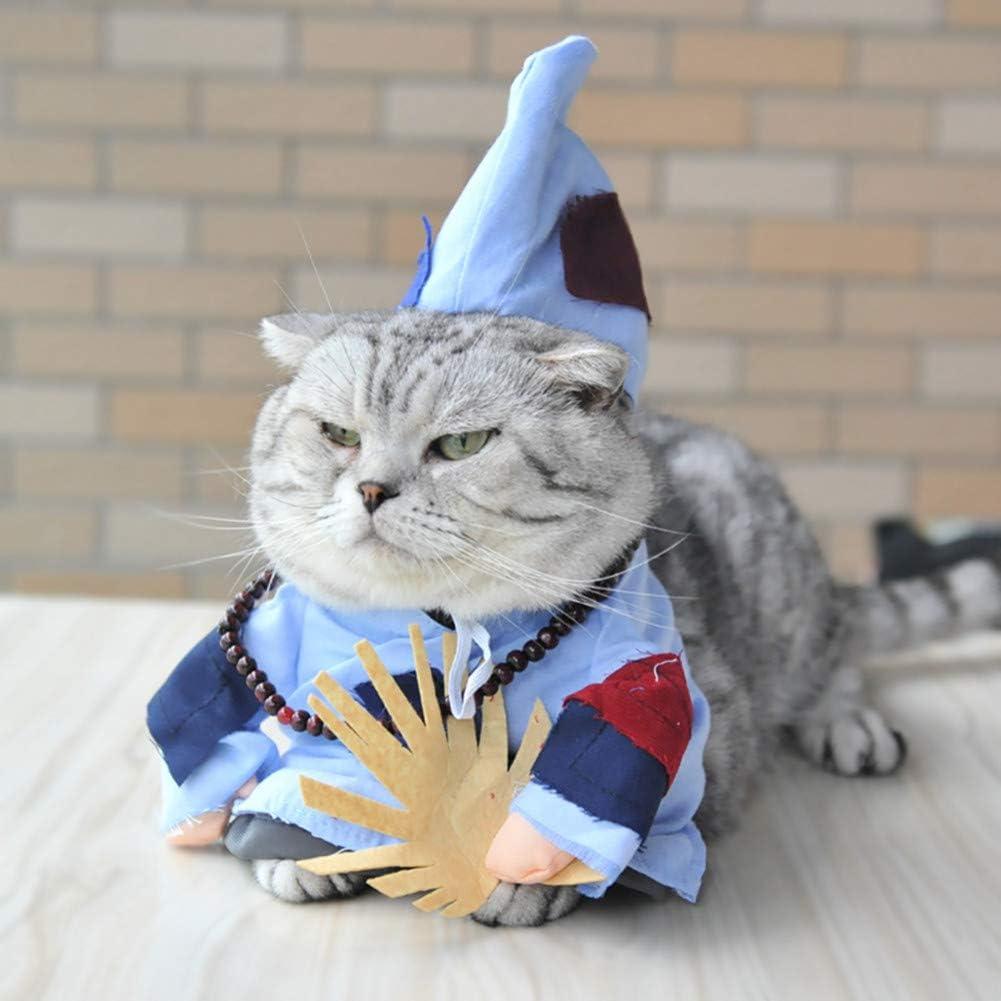 LCWYP Mascota Halloween para El Monje Loco Disfraz De Gato Budista ...