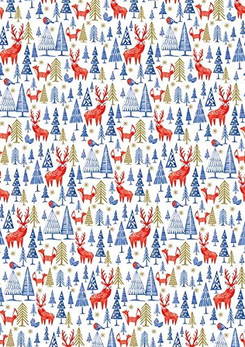 Trees and Nutcracker Frank 9 Metres in Total Christmas Roll Wrap 2019-3 Designs of Christmas Wrapping Paper