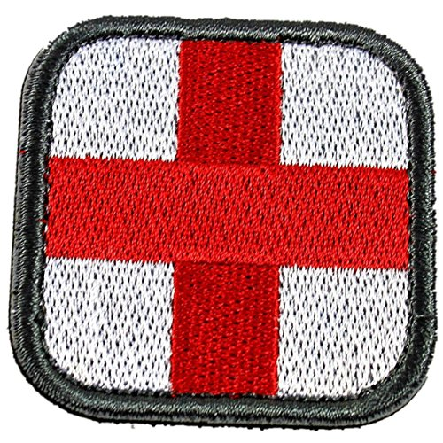 Horizon Medic Cross Tactical Patch - Olive Red White Green (white)