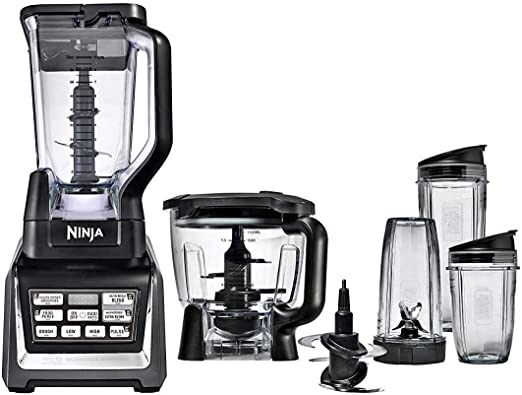 Nutri Ninja Blender Duo with Auto-iQ 2HP Blender with Food Processor Bowl (Renewed)