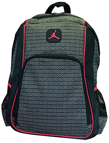 Jordan Boys Black & Red 23 Backpack (Black) (Red And Black 23 Jordans)