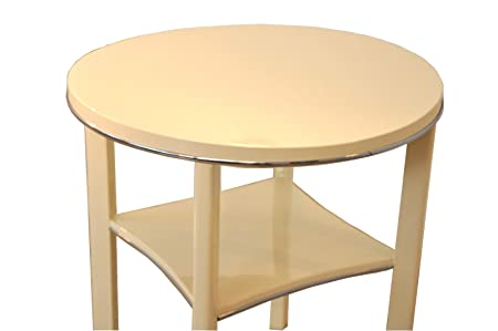 Oam 505 Art Deco Side Table In Cream Amazon Co Uk Kitchen Home
