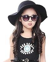 FEITONG Kids Worsted Soft Visor Bucket Hat Girl Wave Casquette Sun Hat