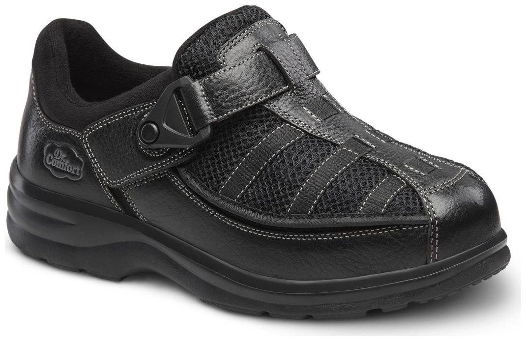 Dr. Comfort Lucie-X Women's Therapeutic Diabetic Double Depth Shoe: Black 10 X-Wide (XW/4E) Velcro by Dr. Comfort