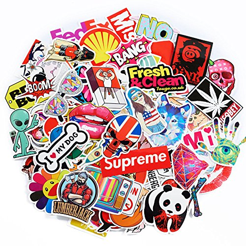 50-Pack SuprCool Stickers - Laptop Cellphone Pad Skateboard Luggage Car Motorcycle Bicycle - Random Sticker Set