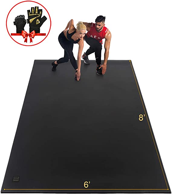 Gxmmat Extra Large Exercise Mat 6'x8'x7mm