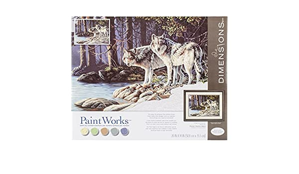 Dimensions 73-91693 Dog Love Paintworks Paint by Numbers Kit for Kids and Adults 8 x 10