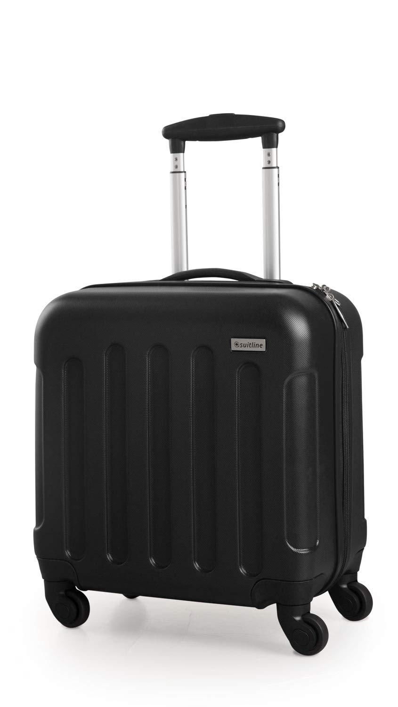 46 cm Noir SUITLINE S3 Pilot Case Trolley Rigide Bagages /à Main Valise /à roulettes Mallette de Pilote ABS