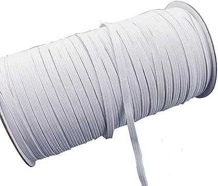 Flat Elastic White Premium Grade Stretch Cord 3 Sizes Trouser Elastic