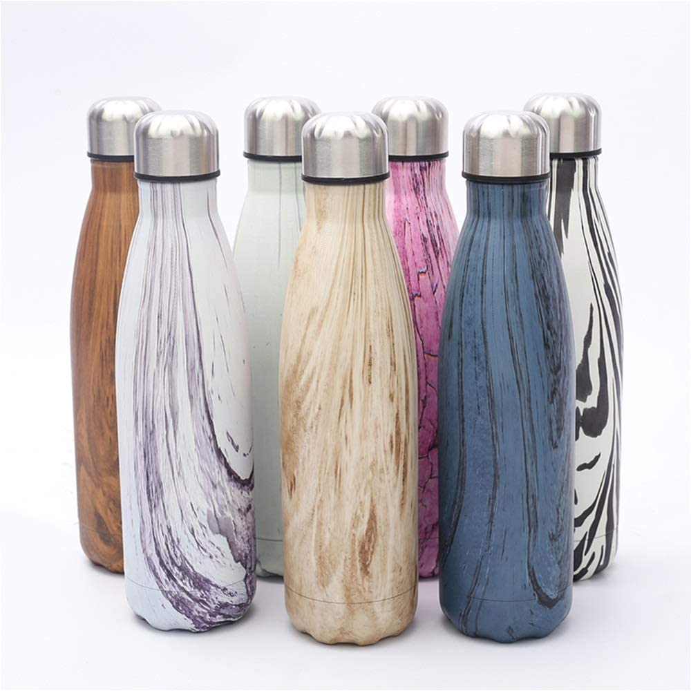Snzoek Stainless Steel Water Bottle BPA free, Double Walled Vacuum Insulated Thermos Flask Reusable Leak-Proof Sports Flask 24 Hours Cold, 12 Hours Hot