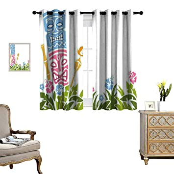 Amazon Com Homehot Tiki Bar Decor Room Darkening Wide