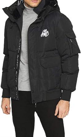 Kings Will Dream Hunton Black Fur Hooded Puffer Coat