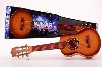 JohnToy - Instrumento de música - Guitarra con 6 Cuerdas Metal ...