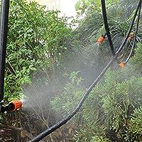 Firlar Mangueras de jardín 20 m PVC Manguera de riego 4/7 mm Micro Dripper Jardín Herramienta de riego: Amazon.es: Jardín