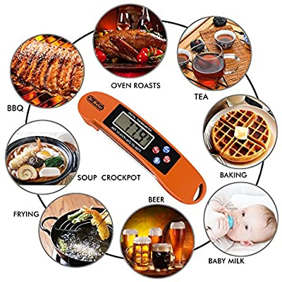[2 Pack]Dr.meter DTH-104A-2 Food Thermometer Digital Cooking Meat Thermometers, Instant Read Pocket Thermometer Kitchen, Superfast and Safe for Grill Cooking Candy ,BBQ