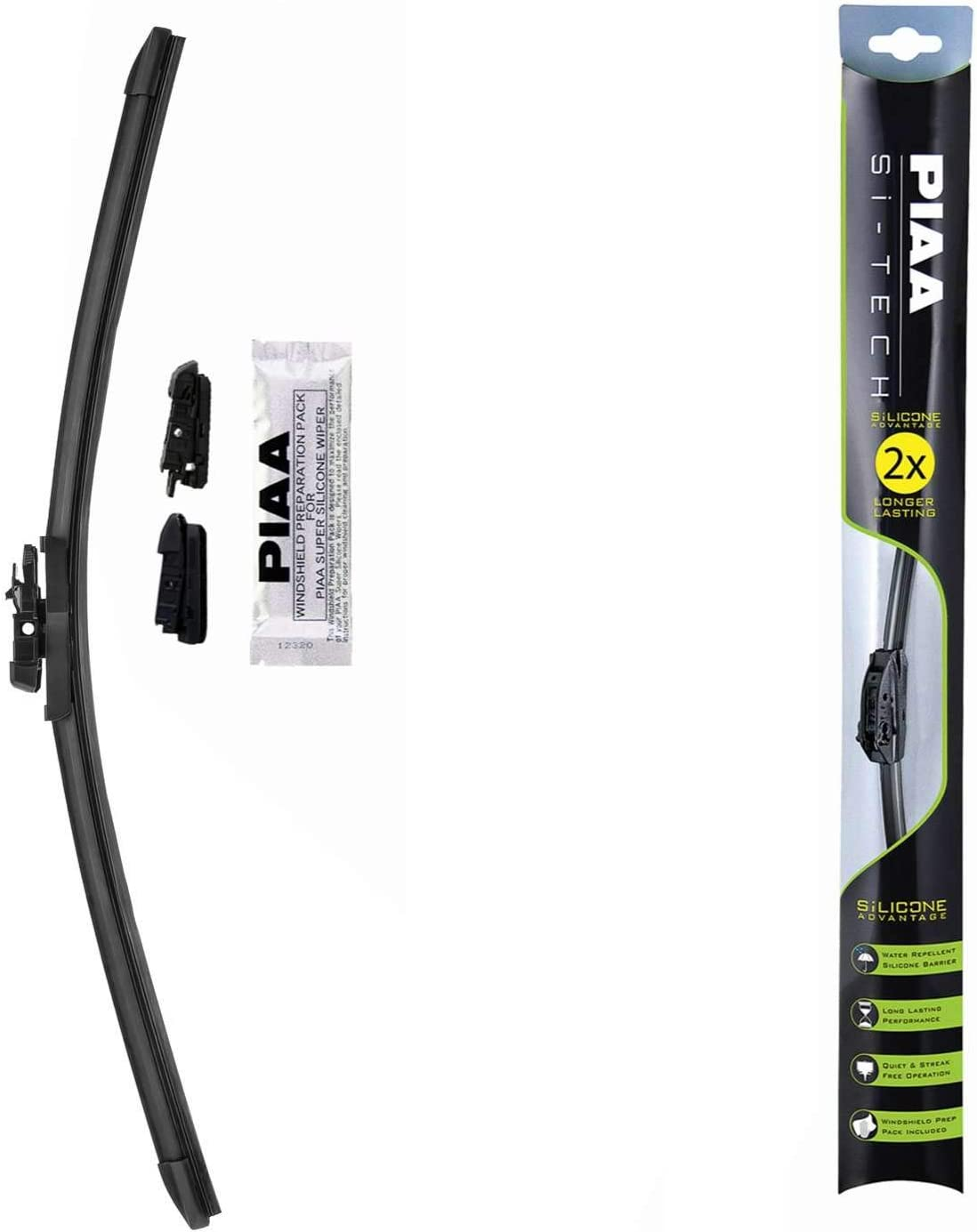 "PIAA 97040 Si-Tech Silicone Wiper Blade - 16"" 400mm (Pack of 1)"