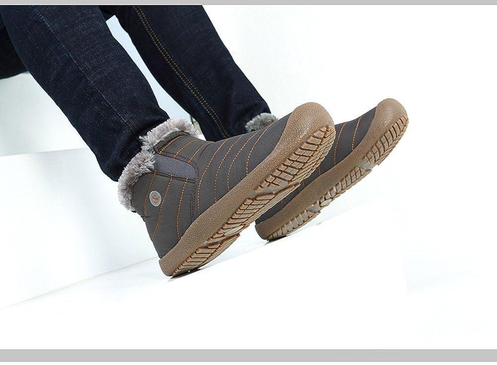 Botas de Nieve de los Hombres de Las Mujeres Zapatos de Senderismo Ligeros Calientes del Invierno Zapatillas de Deporte Antideslizantes al Aire Libre del ...