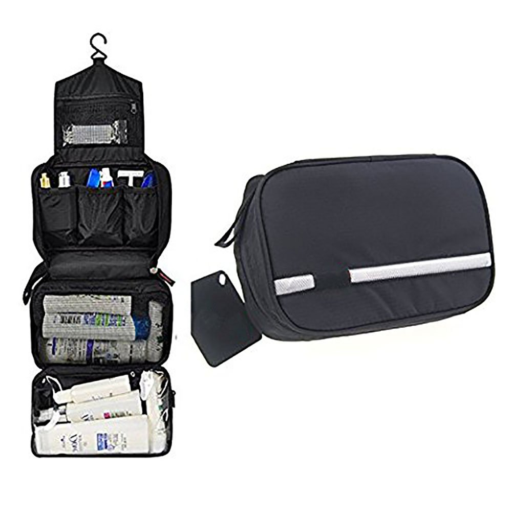Travel Bag Shaving Kit Waterproof Hanging Pouch Case Black & ebook by big_store
