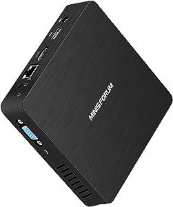 Fanless Mini PC Intel Atom x5-Z8350 Processor Windows 10 Quad Core CPU 4GB DDR/64GB eMMC Mini Desktop Computer HDMI and VGA Ports 2.4/5.8G Dual WiFi BT4.1 USB3.0, Auto Power On