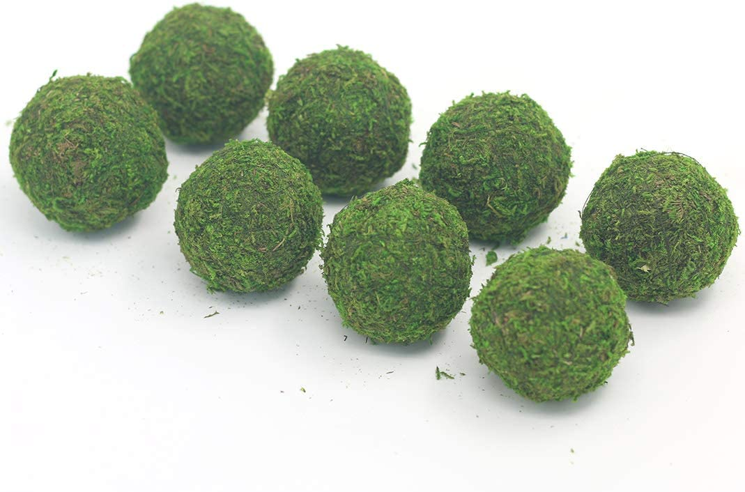 Nice purchase Handmade Natural Green Plant Moss Balls Decorative for Home Party Display Decor Props (2 in) 611sAcOld9L
