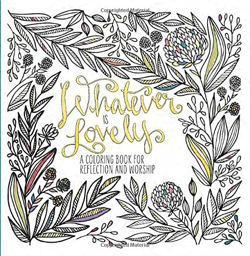 Whatever Lovely Coloring Reflection Worship product image