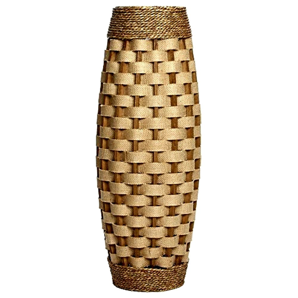 Tall Wood Vases Floor 24'' High Ideal Gift For Weddings Home Decor Long Dried Floral Spa-Skroutz