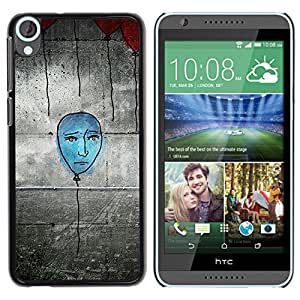 Paccase / SLIM PC / Aliminium Casa Carcasa Funda Case Cover para - Popular Blue Balloon Street Art Wall Grafiti Drawing - HTC Desire 820