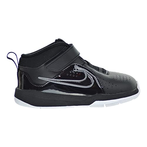 491a50d53949 Nike Team Hustle D 6 (TD) Toddler Shoes Black White 599189-001 (7.5 ...