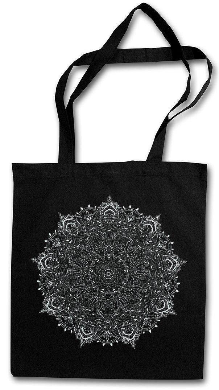 MANDALA I Shopper Reusable Hipster Shopping Cotton Bag Einkauftasche Einkaufstasche Tasche Stofftasche Jutebeutel Beutel Buddhismus Hinduismus Hindu Shiva Buddha Dharma Govinda Indien India Om Urban Backwoods BG13929BK