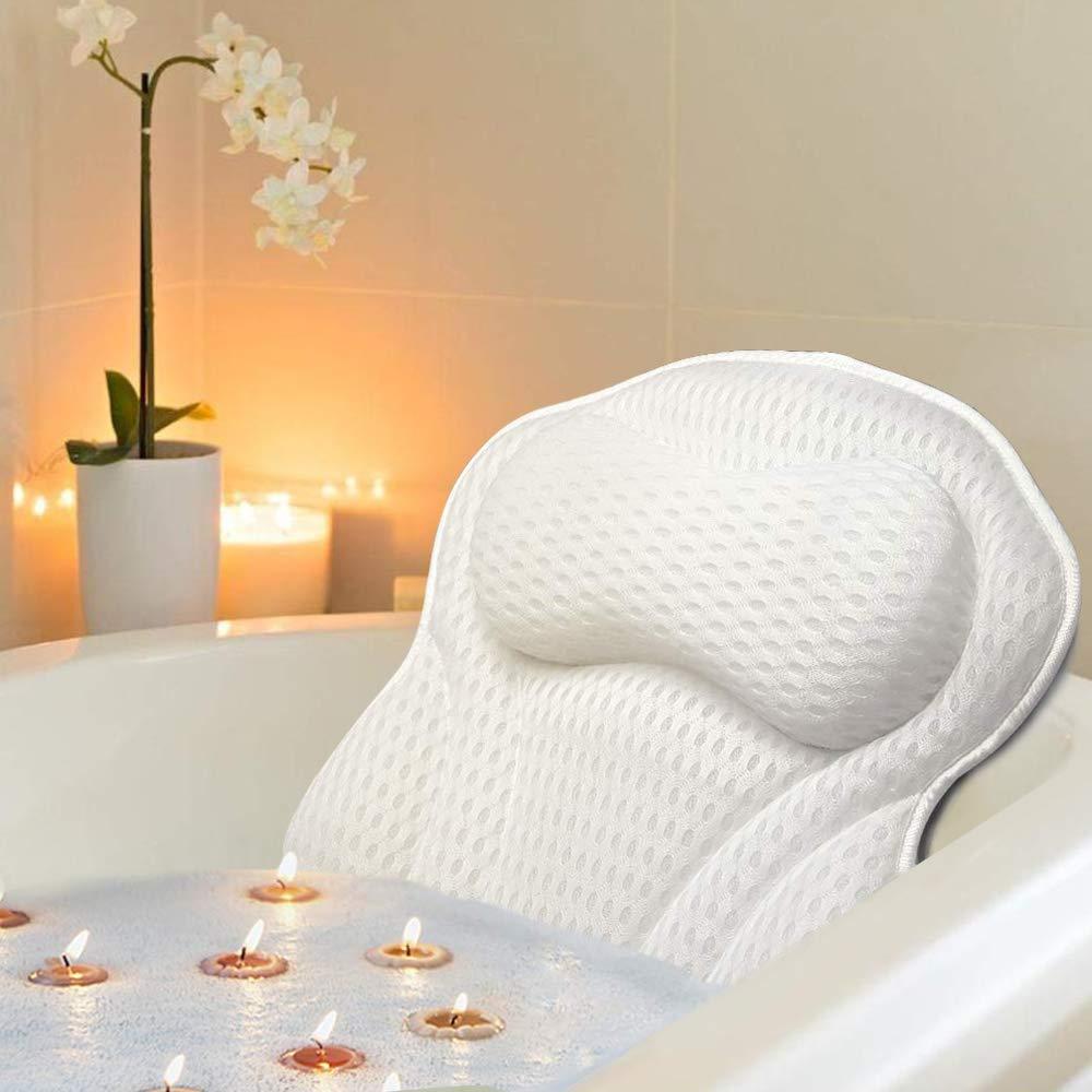 Docilaso Bath Pillow, Bathtub SPA Pillow with 4D Air Mesh Technology Docilaso Bath Pillow, Bathtub Spa Pillow with 4D Air Mesh Technology for Women & Men : Beauty