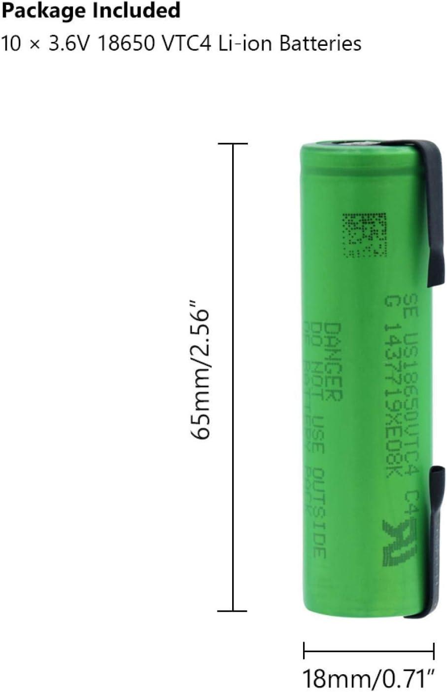 NHFGJ High Drain 30a 18650 Battery 3.6v 2100mah for Torch Vape 8PCS 10pcs
