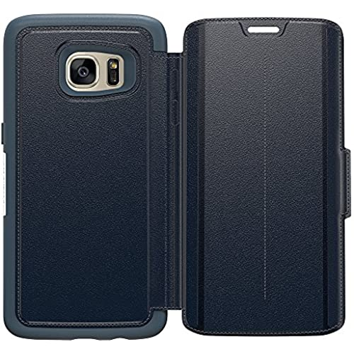 OtterBox STRADA SERIES Leather Wallet Case for Samsung Galaxy S7 Edge - Frustration Free Packaging - TEMPEST NIGHT Sales