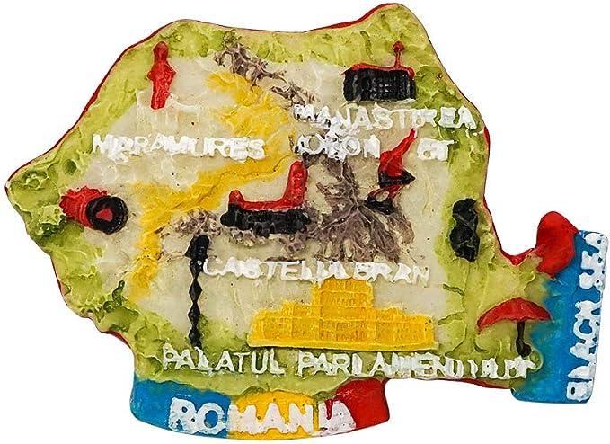 zamonji Mapa Topográfico de Rumania, Mar Negro | 3D Imanes para ...