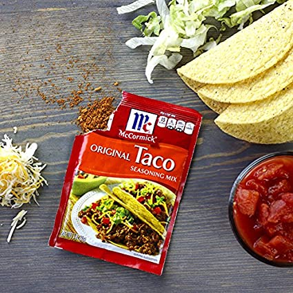 Amazon Com Mccormick Original Taco Seasoning Mix 24 Oz Pack Of 2 Grocery Gourmet Food