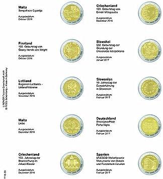 Lindner 1118-1120 Vordruckblatt de 2 euros monedas conmemorativas: Malta, Octubre 2016 - España febrero 2017: Amazon.es: Juguetes y juegos