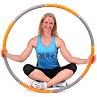 ResultSport Level 2 Foam Padded Weighted 1.5kg (3.3lb) Fitness Exercise Hula Hoop 100cm wide