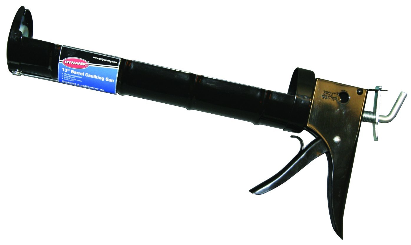 Dynamic Paint AJ200129 13-Inch Contractor Caulking Gun, Quart Size, Barrel Style