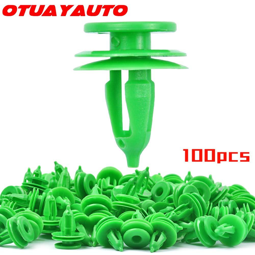 50pcs fender retainer nylon green fasteners car clips for Chrysler #6503204