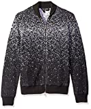 A|X Armani Exchange Men's Chunky Zip up Cardigan, Black, Medium