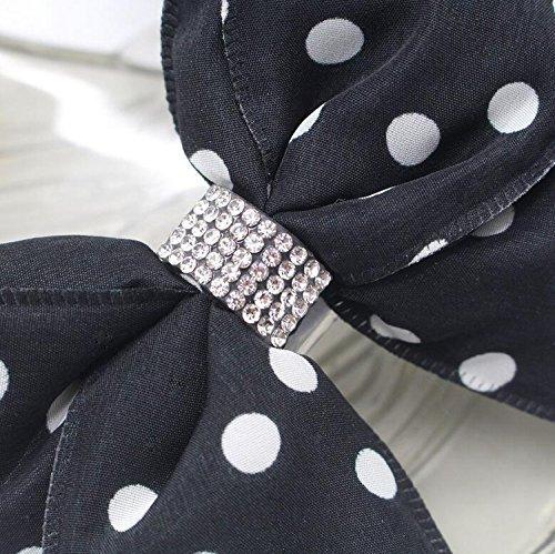 Bianco di di Pesce Sandali Black Cristallo Donne Pantofole Sandali Sandali Piatti e Nero di Sandali delle Modo Bocca Trasparenti in U60q6tx