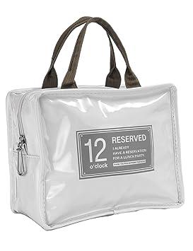 iSuperb - Bolsa para el almuerzo, impermeable, bolsa para el almuerzo enfriador aislado, bolsa de viaje con cierre de cremallera para hombres y ...