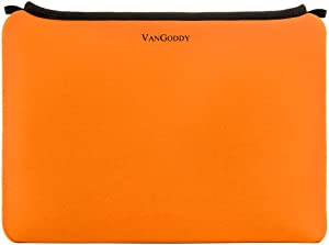 Universal 17 in 17.3 Inch Shock Resistant Neoprene Laptop Sleeve Carry on Pouch Bag, Orange