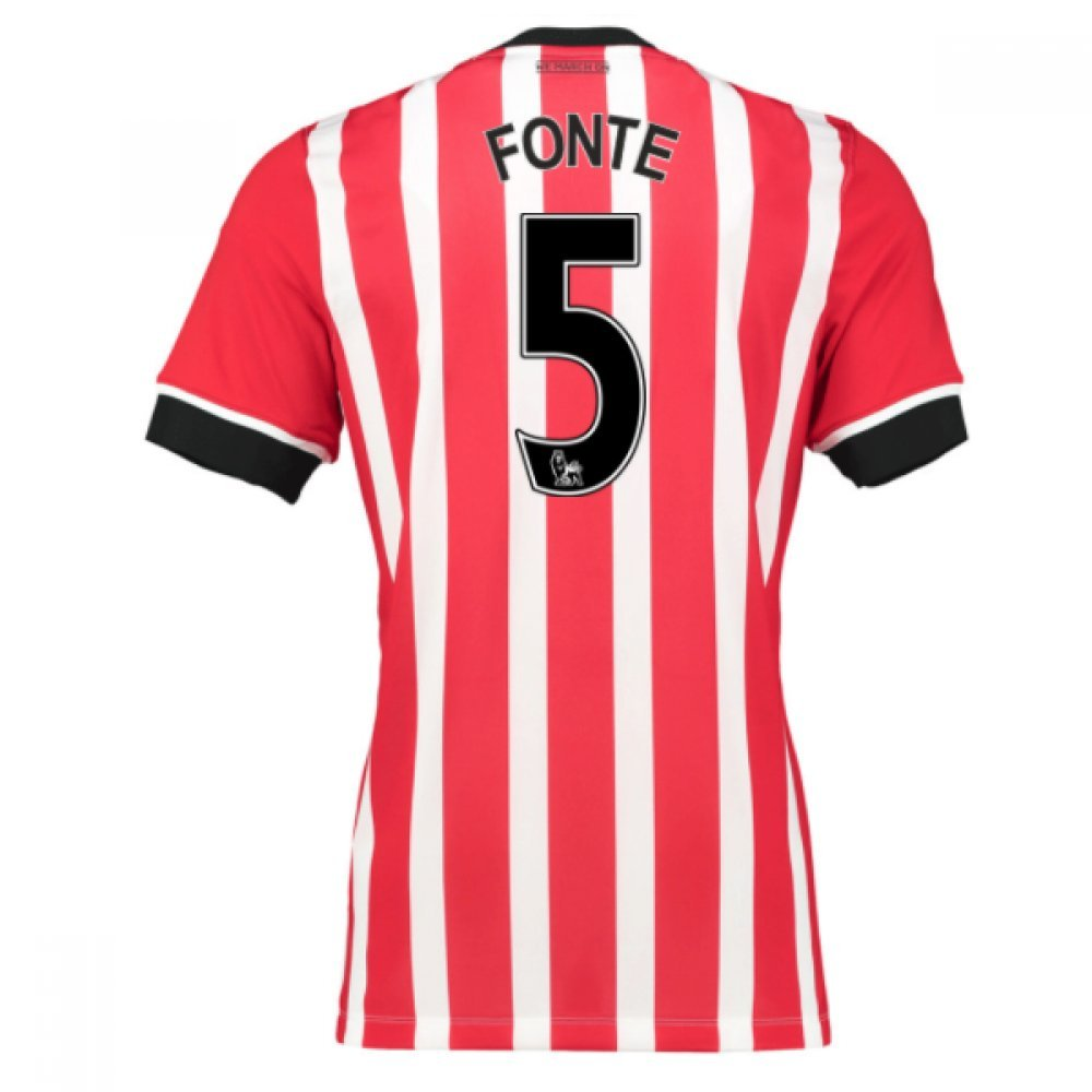 2016-17 Southampton Home Football Soccer T-Shirt Trikot (Jose Fonte 5)