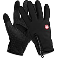 Waterproof Touchscreen Cycling Gloves Winter Outdoor Sports Windproof Long Finger Bike Riding Gloves Motorcycle Gloves…