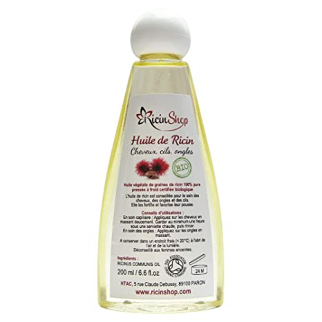 Aceite de Ricino Bio Premium alta calidad 200 ml
