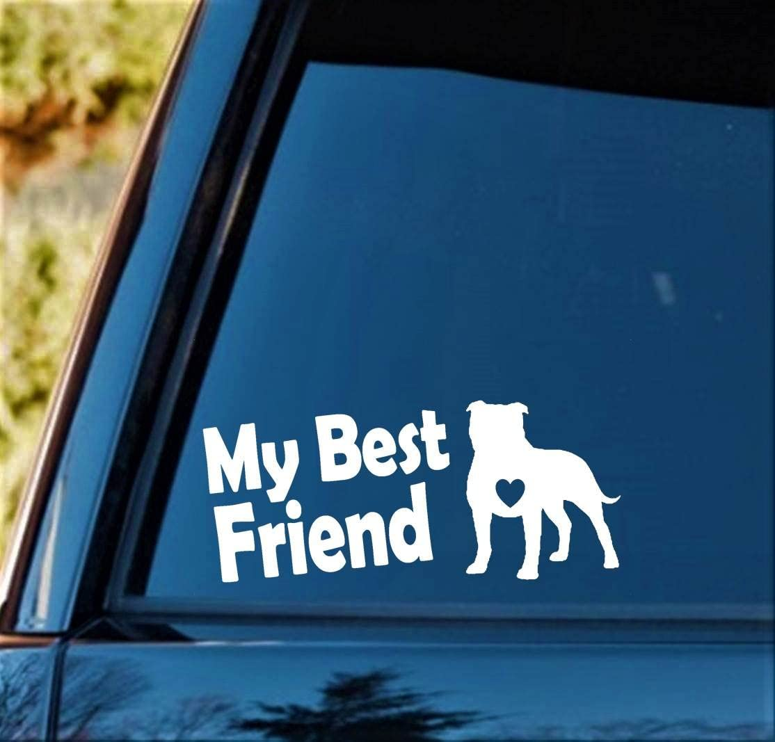 L1049 My Shadow Barks Pit Bull Dog Decal Sticker Pitbull Pet Gift Accessories
