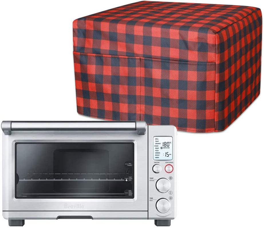 Smart Toaster Oven Cover, Convection Ovens Dust Cover, Large Size Kitchen Appliance Storage Bag, Oxford Fabric, Two Spacious Pockets For Accessories Collection, Machine Washable